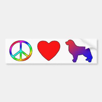 Peace Love Bernese Mountain Dogs Bumper Sticker