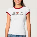 peace. love. bernie t shirt
