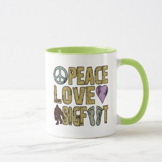 Peace Love Bigfoot Mug