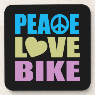 Peace Love Bike Coasters