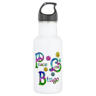 Peace Love Bingo 532 Ml Water Bottle
