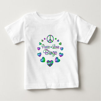 Peace Love Bingo Baby T-Shirt