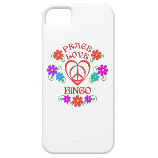 Peace Love Bingo iPhone 5 Covers