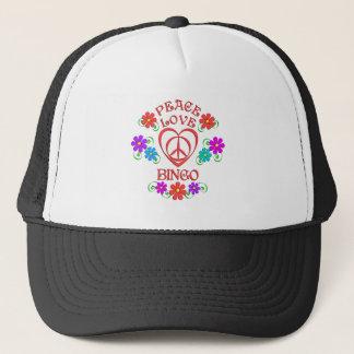 Peace Love Bingo Trucker Hat