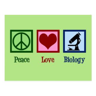 Peace Love Biology Postcard