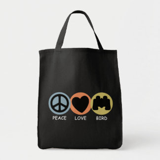 Peace Love Bird Tote Bag