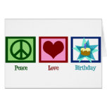Peace Love Birthday Greeting Cards