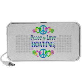 Peace Love Boating Laptop Speaker