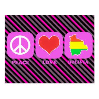 Peace Love Bolivia Postcard