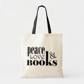 Peace Love Books Budget Tote Bag