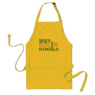 Peace Love Books II Aprons