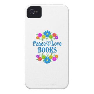 Peace Love Books iPhone 4 Cases