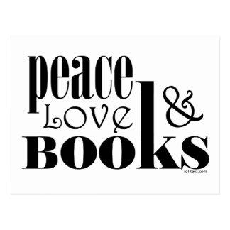 Peace Love Books Postcard