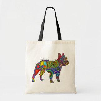 """Peace Love & Boston Terriers"" Pop Art Tote Bag"