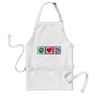 Peace, Love, Bowling Adult Apron