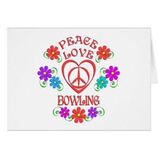 Peace Love Bowling Card