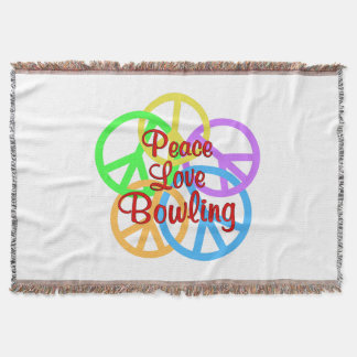 Peace Love Bowling Throw Blanket