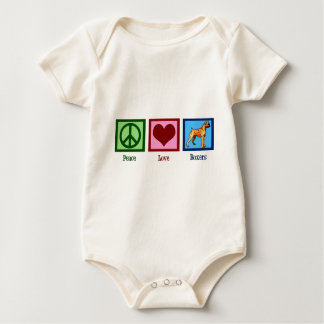 Peace Love Boxers Baby Bodysuit