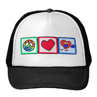 Peace, Love, Boxing Trucker Hats