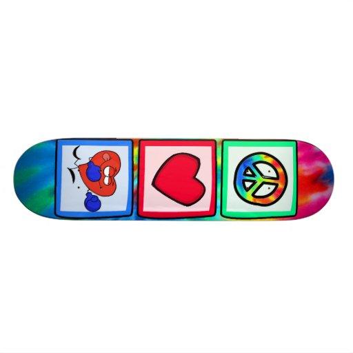 Peace, Love, Boxing Skate Boards
