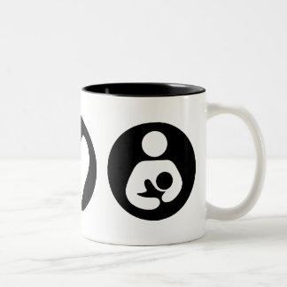 Peace Love Breastfeeding Two-Tone Coffee Mug