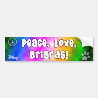 Peace Love Briards Bumper Sticker