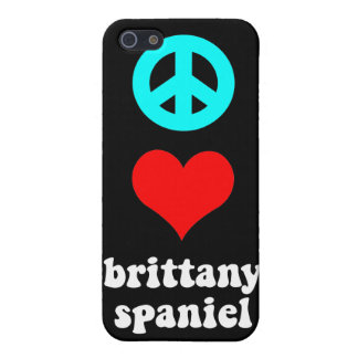 peace love brittany spaniel iPhone 5/5S covers