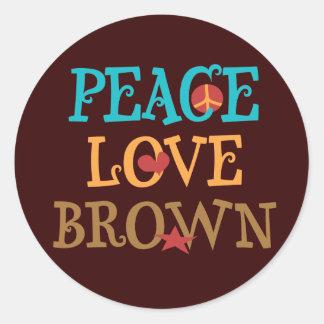 Peace Love BROWN - Senator Scott BROWN NH Stickers