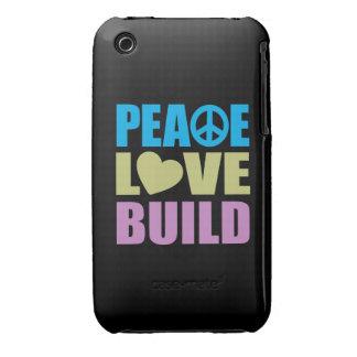 Peace Love Build iPhone 3 Cases