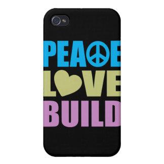 Peace Love Build iPhone 4 Case