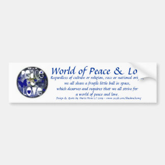 Peace & Love - Bumper Sticker