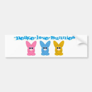 Peace~Love~Bunnies Bumper Sticker