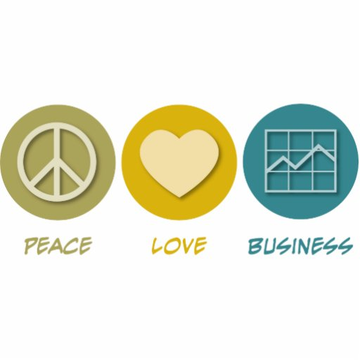 Peace Love Business Administration Photo Cut Outs