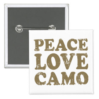 Peace Love Camo 15 Cm Square Badge
