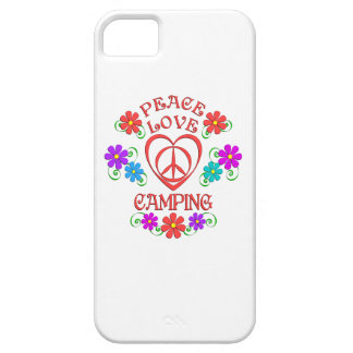Peace Love Camping Barely There iPhone 5 Case