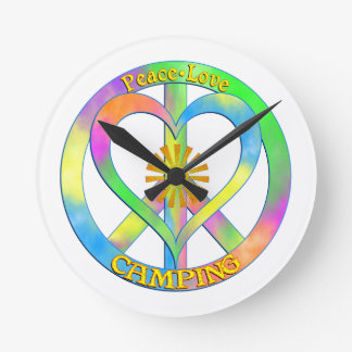 Peace Love Camping Clocks