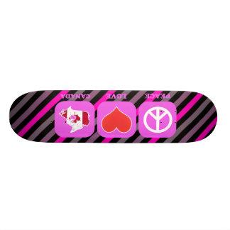 Peace Love Canada Skate Board