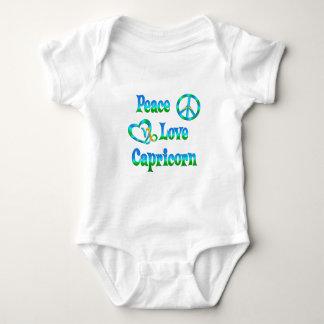 Peace Love Capricorn Baby Bodysuit