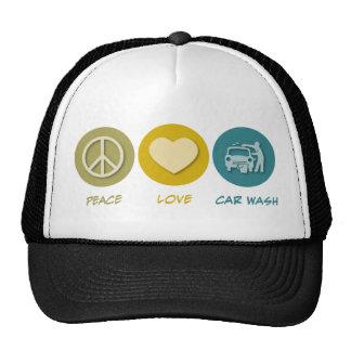 Peace Love Car Wash Mesh Hats