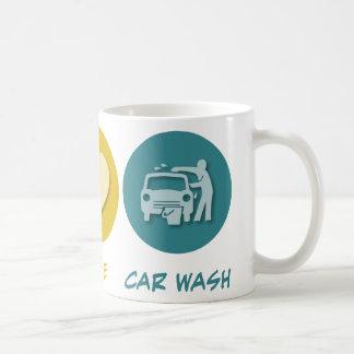 Peace Love Car Wash Mugs