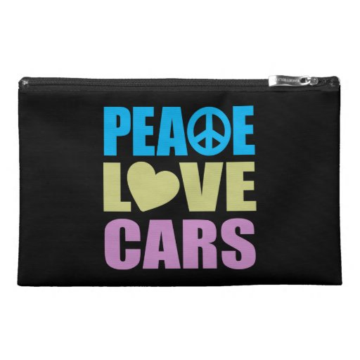 Peace Love Cars Travel Accessories Bag