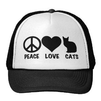 Peace Love Cats Cap