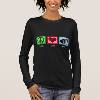 Peace Love Cats Long Sleeve T-Shirt