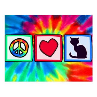 Peace, Love, Cats Postcards