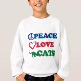 Peace-Love-Cats Sweatshirt