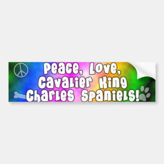 Peace Love Cavalier King Charles Bumper Sticker