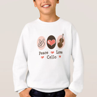 Peace Love Cello Kid Sweatshirt