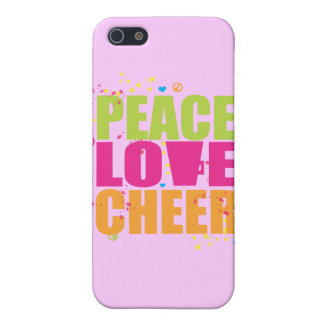 Peace Love Cheer iPhone 4 Case - Pink