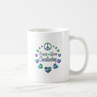 Peace Love Cheerleading Coffee Mug