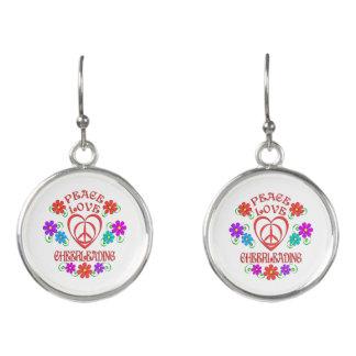Peace Love Cheerleading Earrings